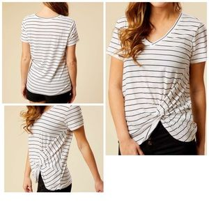 Altar'd State Favorite Knot Striped Tee Small
